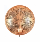 Geometric Circles Copper Plate Wall Sconce
