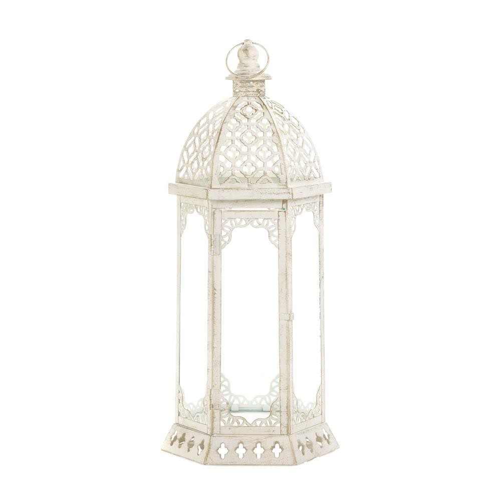 Whole Sale Home Decor: Graceful Distressed White Lantern (L) Wholesale At Koehler