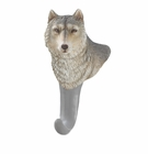 Gray Wolf Wall Hook