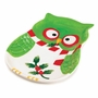 Holiday Hoot Large Plate