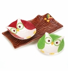 Holiday Hoot Snack Plates