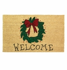Holiday Wreath Welcome Mat
