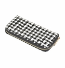 Ladies Houndstooth Zip Wallet