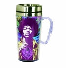 Jimi Hendrix Insulated Travel Mug with Handle