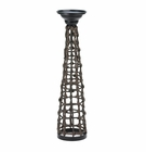 Knotted Rattan Candle Stand (L)