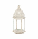 Large Distressed White Lantern