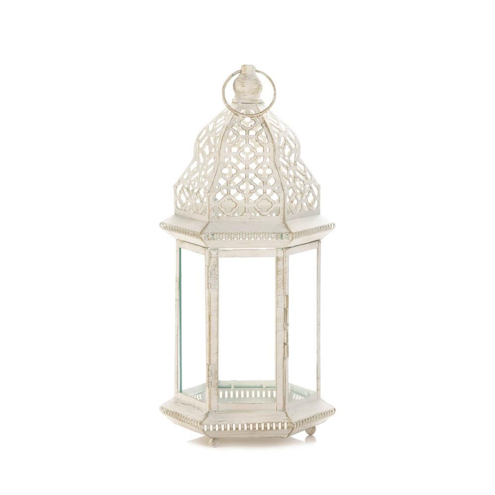 Whole Sale Home Decor: Large Distressed White Lantern Wholesale At Koehler Home Decor