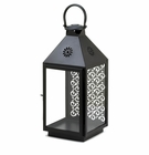 Large Hanging Black Candle Lantern