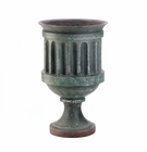 Large Weathered Pedestal Planter