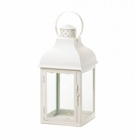 Large White Gable Lantern