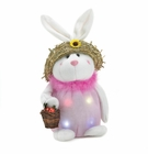 Lighted  Pink Plush Bunny