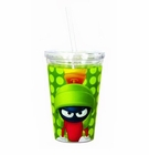 Looney Tunes Marvin the Martian 16 oz. Travel Cup with Straw
