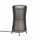 Metal Slat Concave Table Lamp