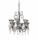 Midnight Blooms Black Chandelier