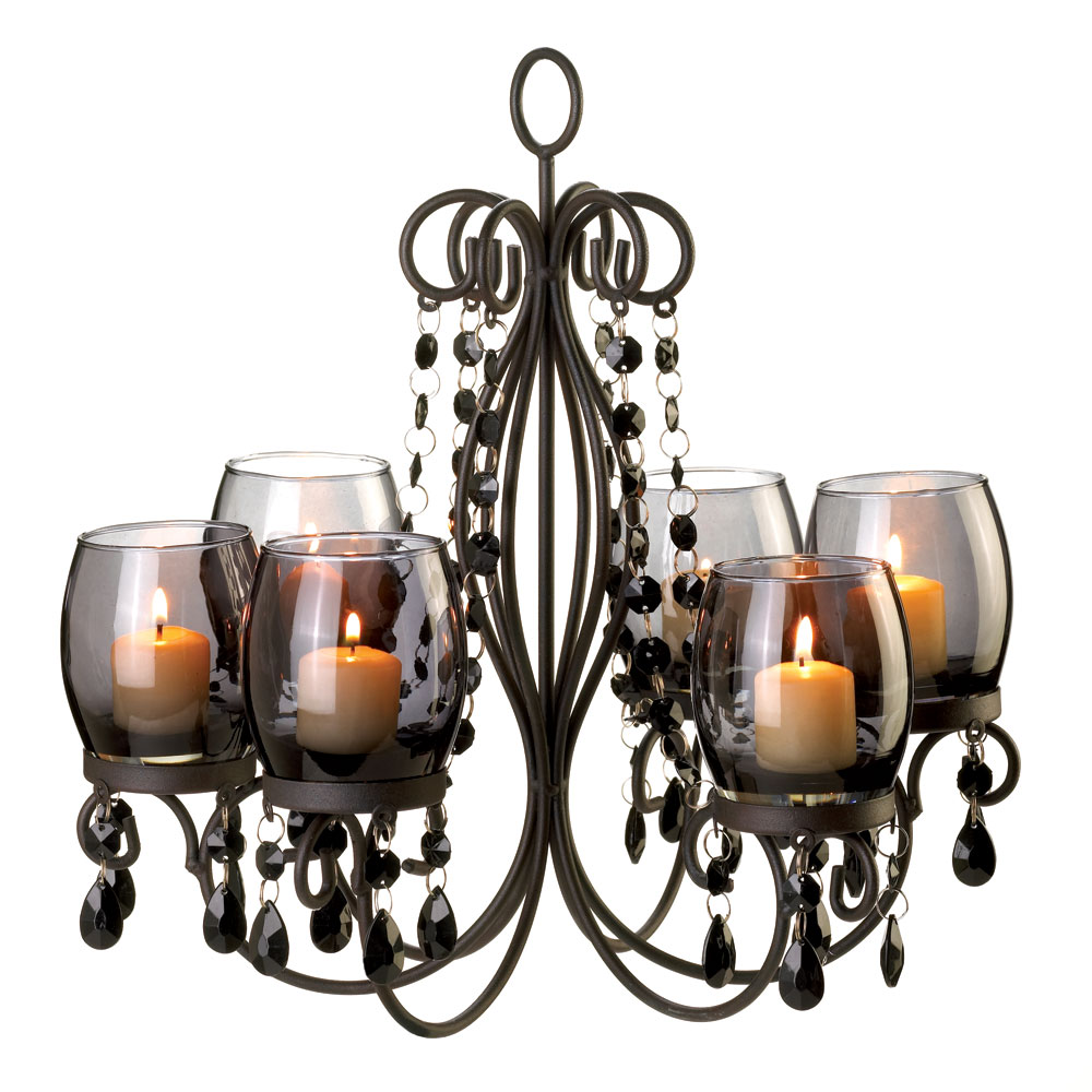 Midnight Elegance Candle Chandelier Wholesale at Koehler
