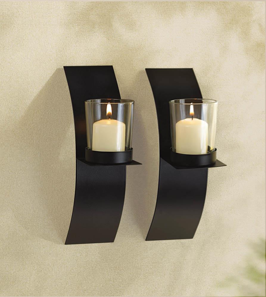 Modern Art Candle Sconce Duo Wholesale at Koehler Home Decor