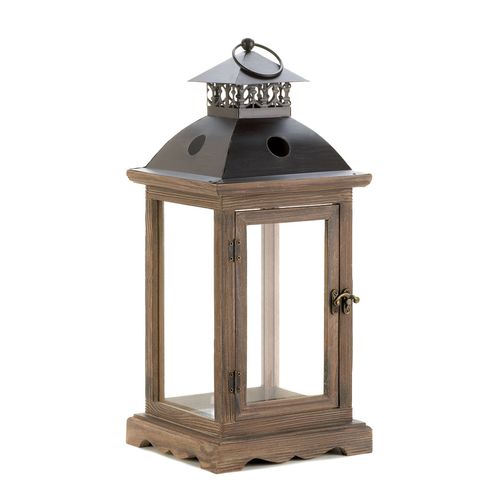 Monticello Wood Lantern L At Koehler Home Decor