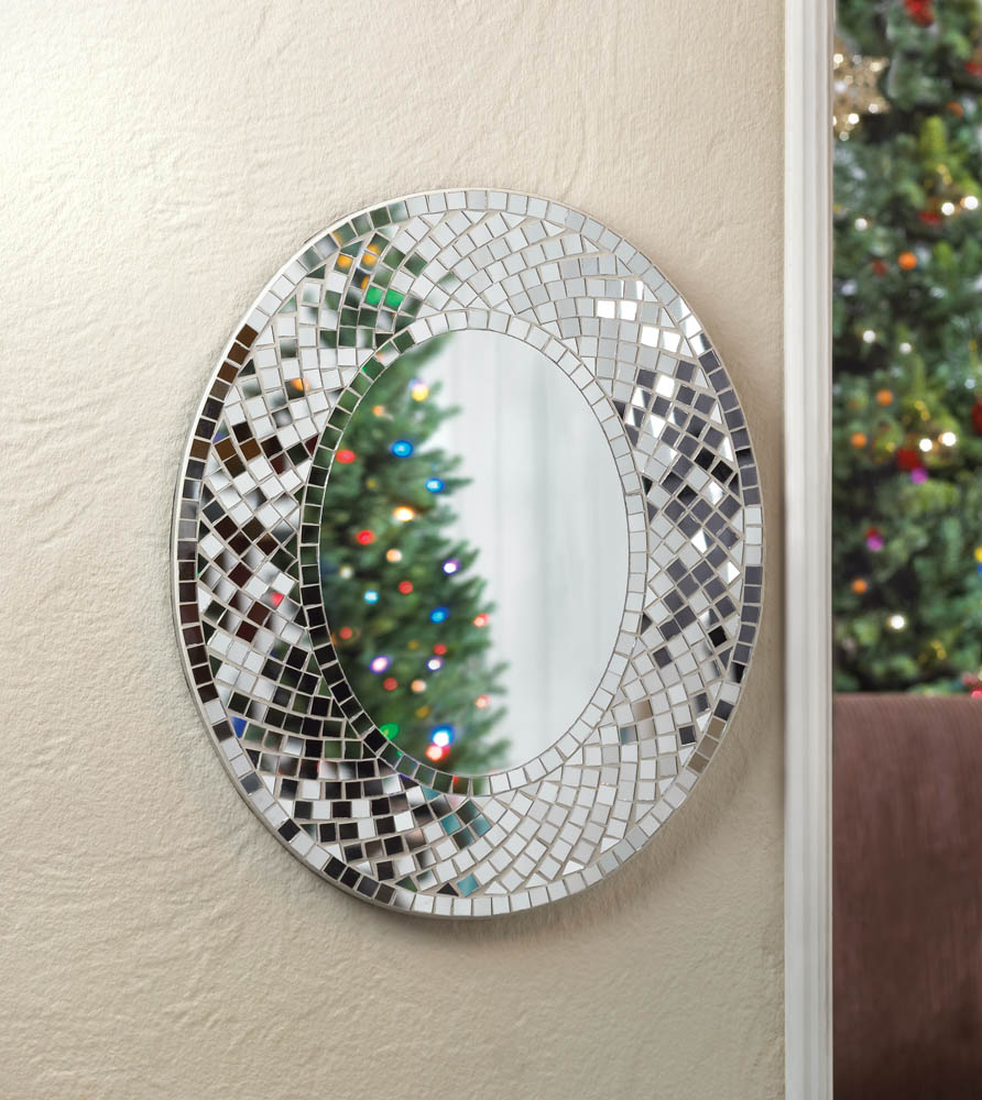 Home > Wall Decor > Mosaic Sparkle Wall Mirror ]