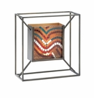 Mosaic Waves Of Multi Color Wall Sconce
