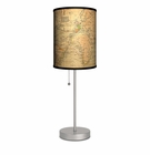 Old World Map Lamp