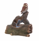 Owl Perch Outdoor Fountain
