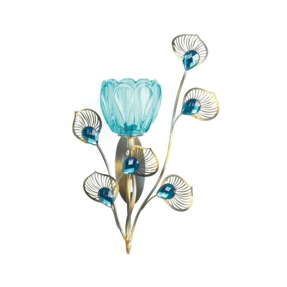 peacock blossom single sconce wholesale at koehler home decor