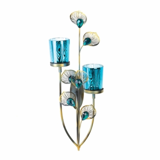 peacock plume wall sconce wholesale at koehler home decor