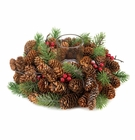 �Pine Cone Wreath Candleholder