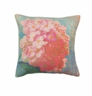 Pink Hydrangea Throw Pillow