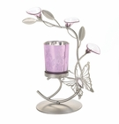 Purple Butterfly Candleholder