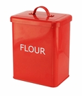 Red Flour Kitchen Canister