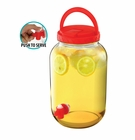 Red Gallon Beverage Dispenser