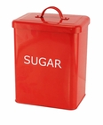 Red Sugar Kitchen Canister