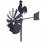 Rooster Windmill Garden Stake