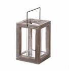 Weathered Wooden Garden Lantern