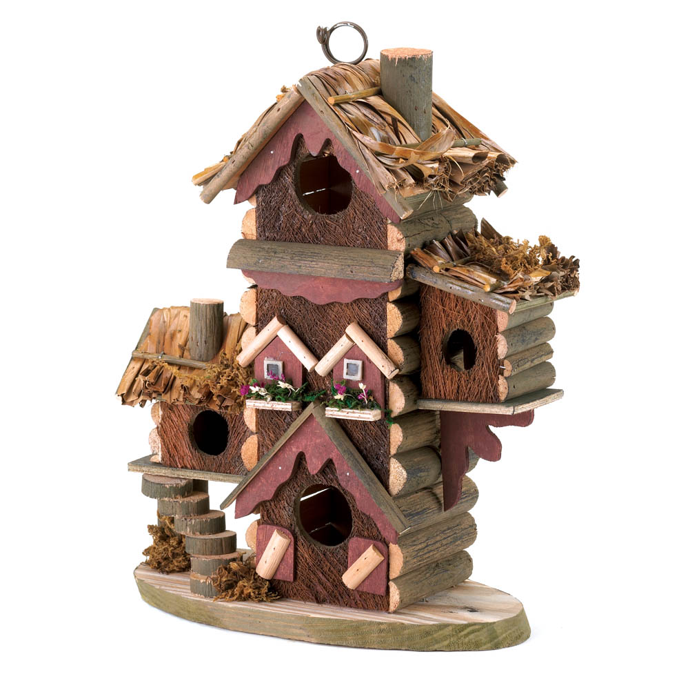 Rustic bird house wholesale at koehler home decor - Decorating with bird houses ...