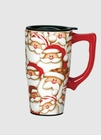 Santa Faces Travel Mug