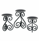 Scrollwork Candle Holders Stand Trio