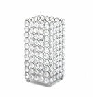 Silver Shimmer Square Candle Holder