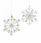 Silver Snowflake Ornaments Duo