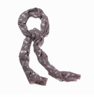 Silvery Frond Fashion Scarf