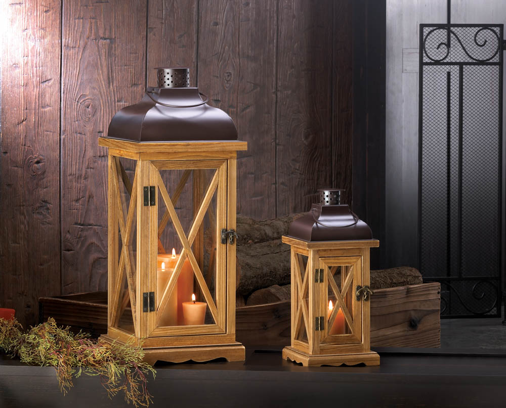 home wholesale lanterns small hayloft wooden candle lantern