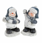 Snow Fighting Snowman Buddies Figurines