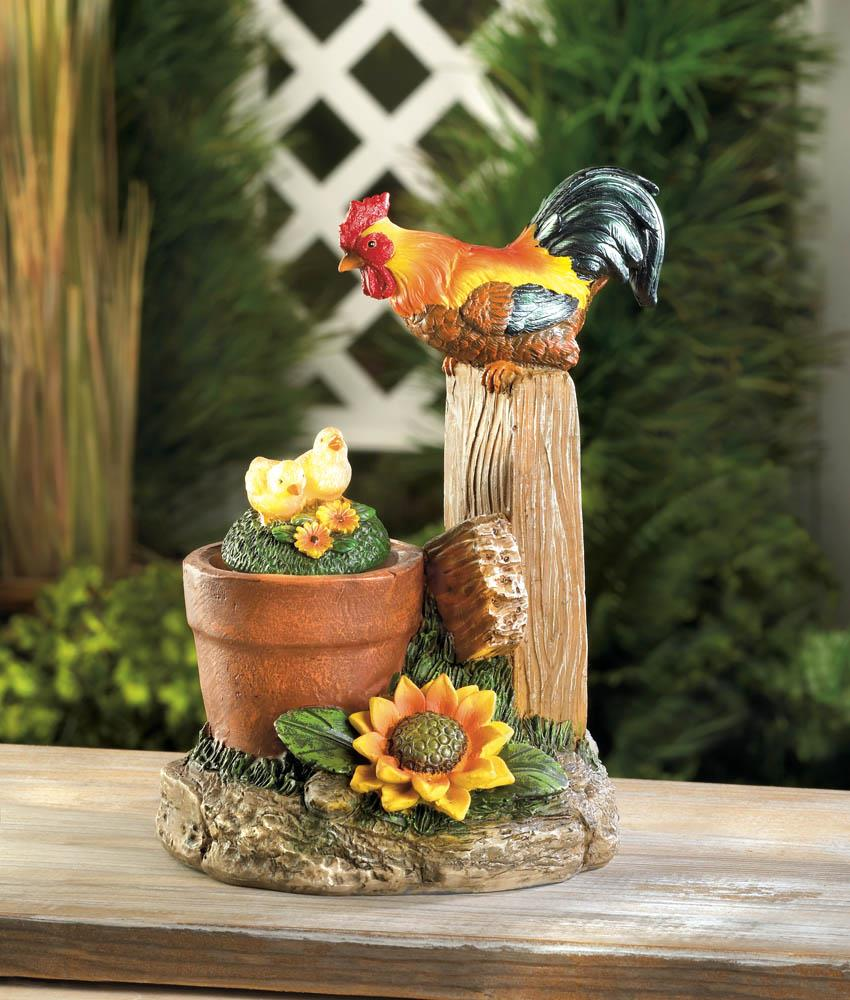 Wholesale Home Decor: Solar Rotating Rooster Garden Decor Wholesale At Koehler