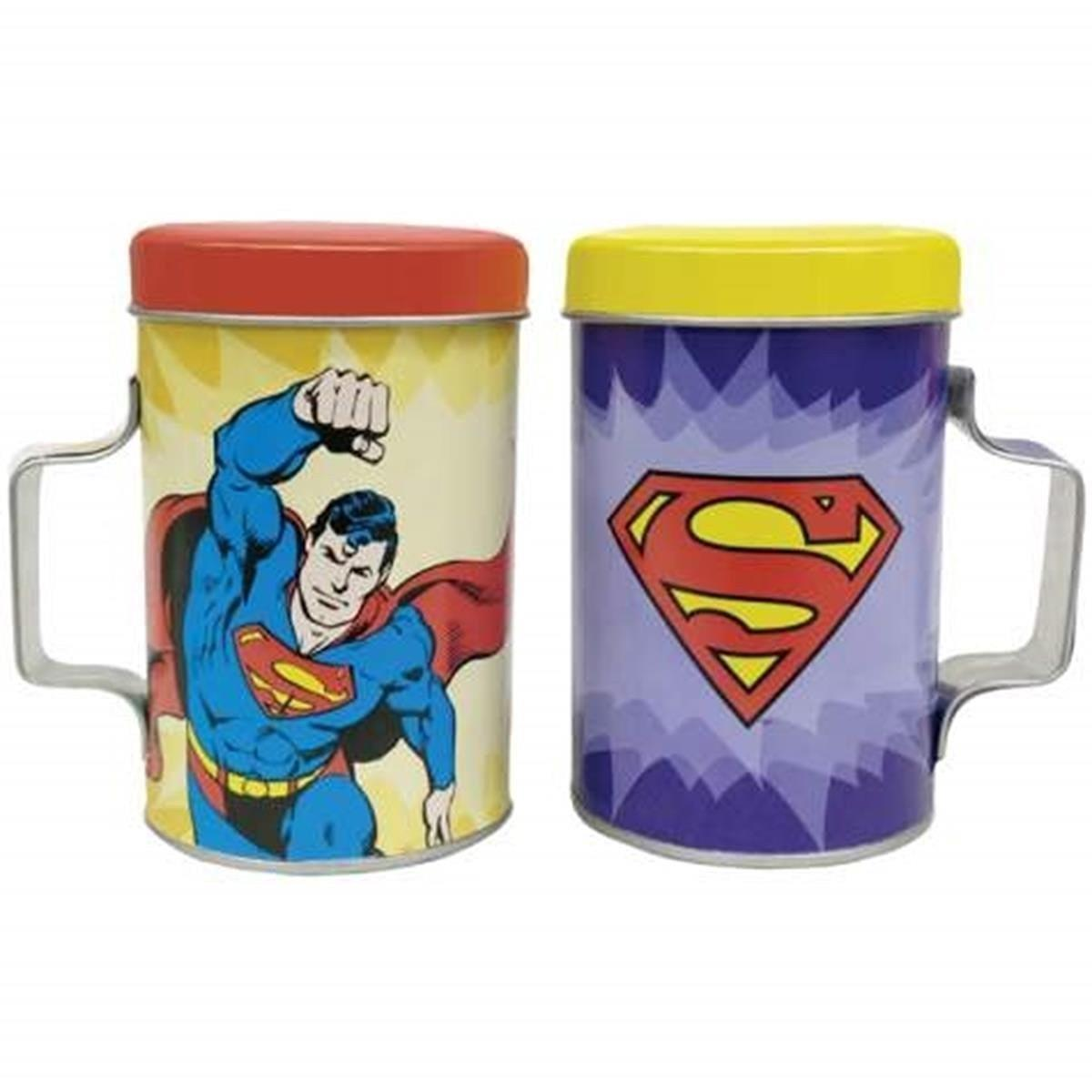 Superman Tin Salt Shakers
