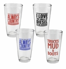 Talkin' Country Pint Glass Set