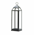 Tall Black Contemporary Lantern