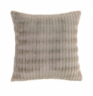 Taupe Faux Fur Pillow
