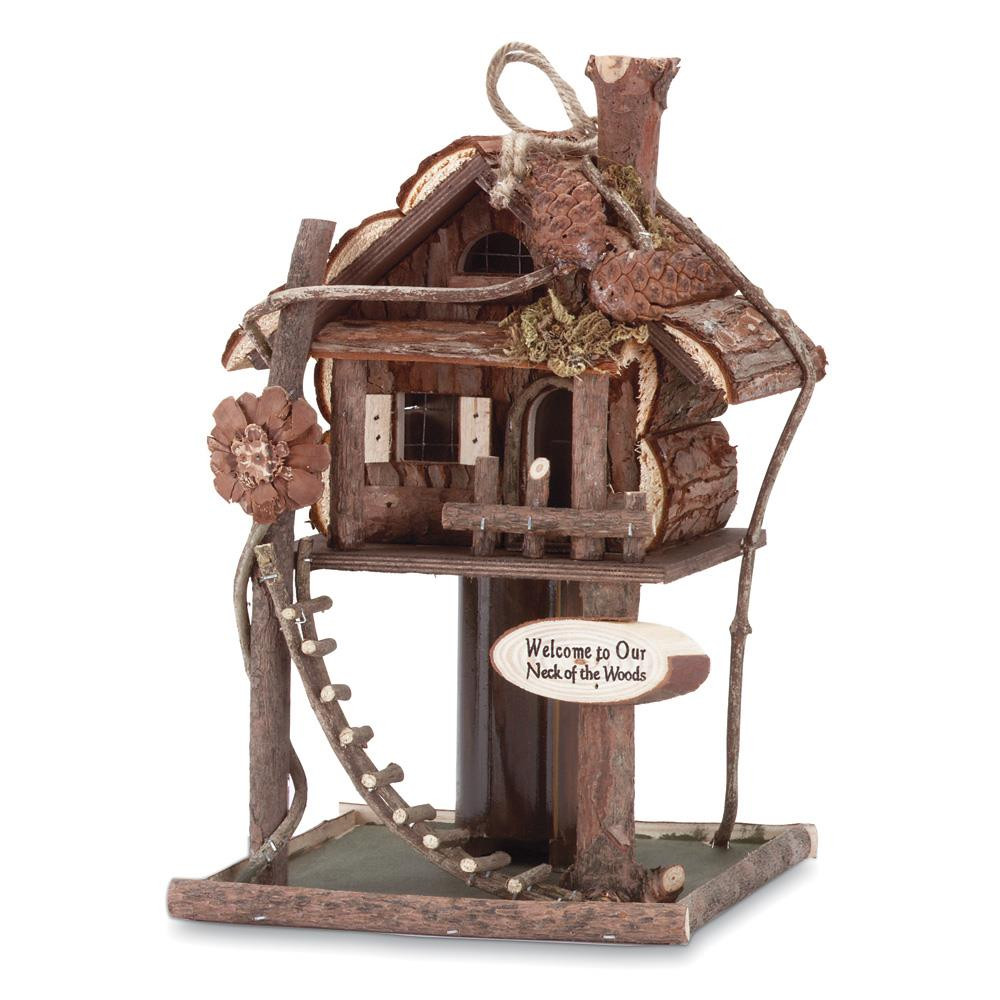 Wholesale Home Decor: Tree House Bird House Feeder Wholesale At Koehler Home Decor