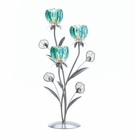 Triple Peacock Bloom Candle Holder